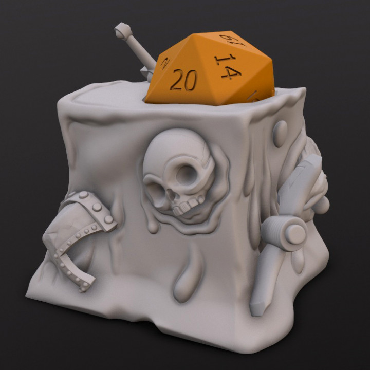 Gelatinous Cube Dice Head's Cover