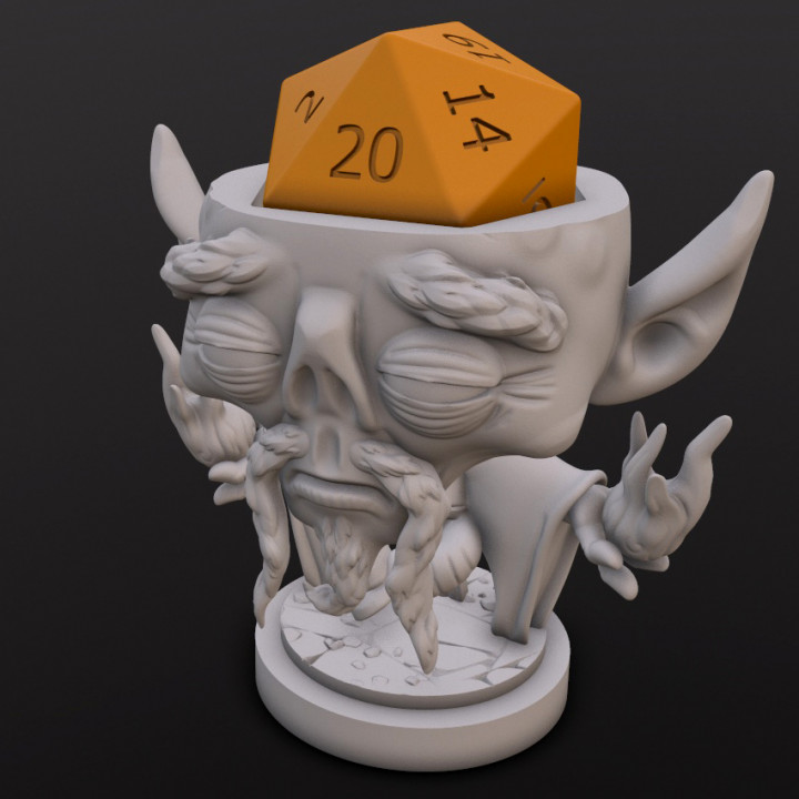 Githzerai Monk Dice Head