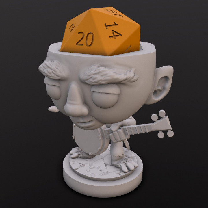 Halfing Bard Dice Head's Cover