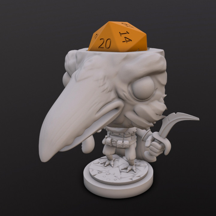 Kenku Rogue Dice Head's Cover