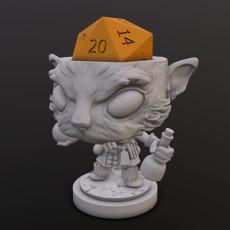 Catfolk Alchemist Dice Head