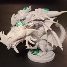 Picture of print of Polychromatic Dragon Dice Holder/ Chibi Head