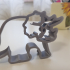 Triceratops shaped cookie cutter image