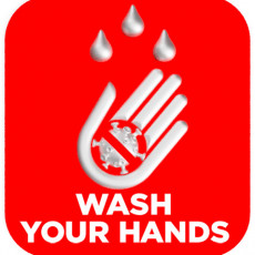 Covid wash sign