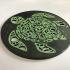 Mandala turtle coaster image
