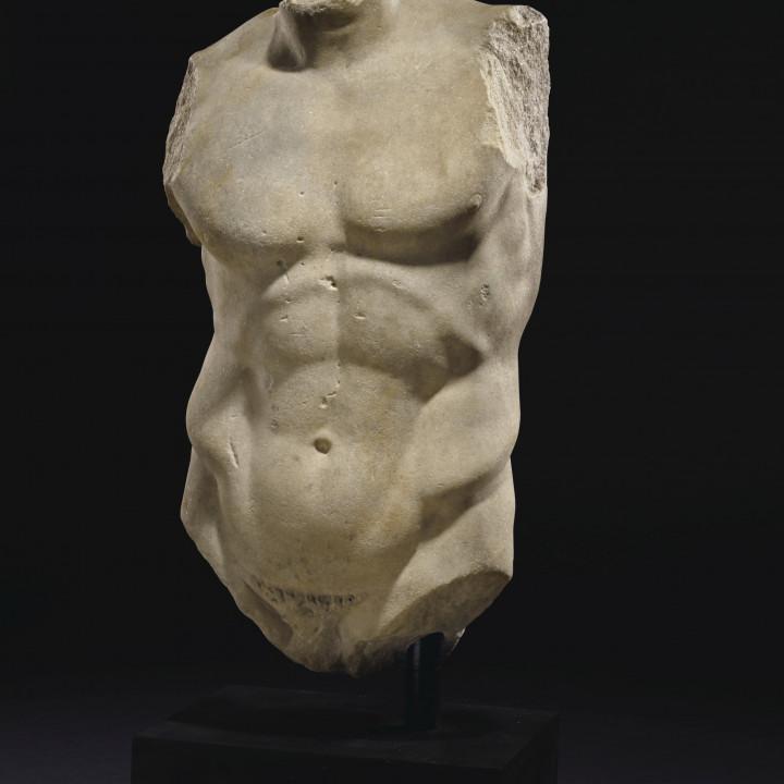 Marble Torso of the Diadumenos of Polykleitos