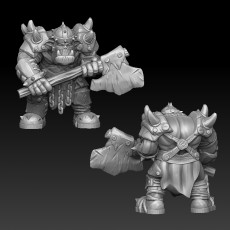 ork warrior with twohanded axe