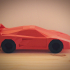 Low Poly Ferrari F40 image