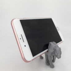 Modern Phone Stand-  Low Poly Tiger