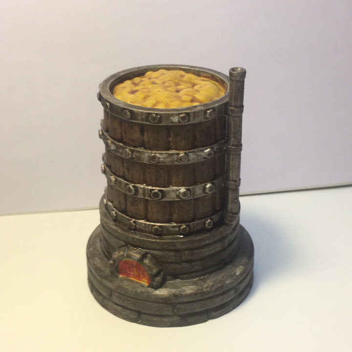 Large Brewing Vat for 28mm table top gaming
