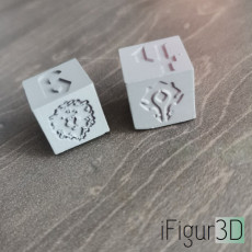 World of Warcraft inspired 6 sided dice