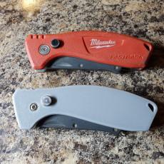 Milwaukee Fastback knife grips