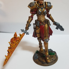Picture of print of Justine (75mm Scale)