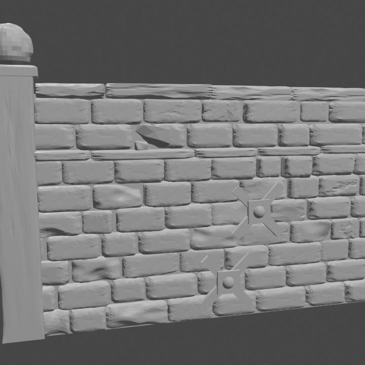 Graveyard wall A