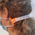 Ear saver for use with elastic band image