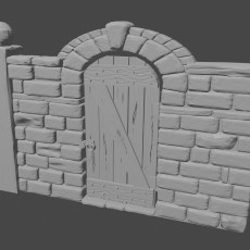 Graveyard wall with gate