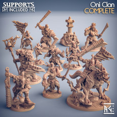 COMPLETE Oni Clan  (presupported)