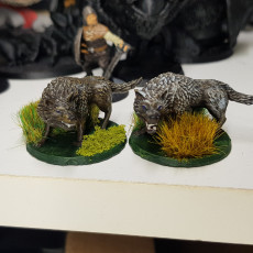 Picture of print of Wolf Miniature