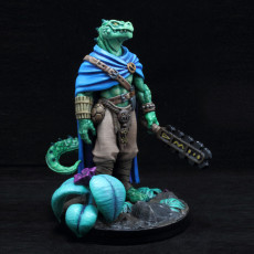 Picture of print of Koa Lizardfolk Barbarian