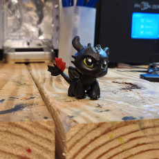 Picture of print of Toothless Chibi