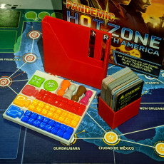Pandemic: Hot Zone - North America boardgame organizer
