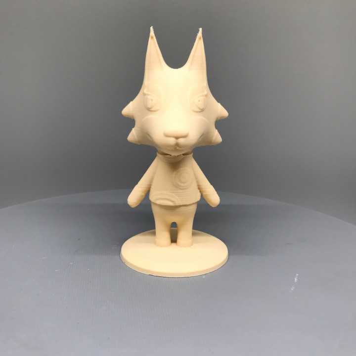 3d Printable Wolfgang From Animal Crossing By Troy Slatton