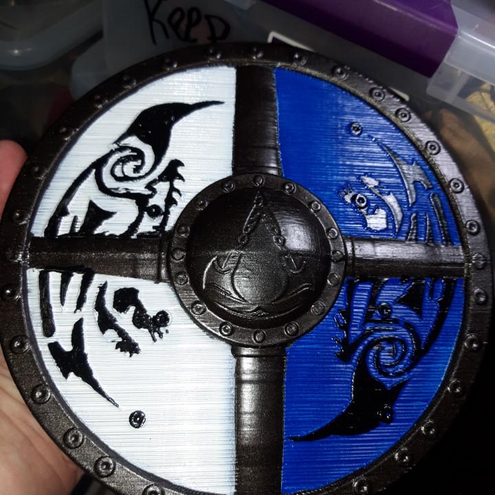 3d Printable Assassins Creed Valhalla Shield By Sholm Jarboe
