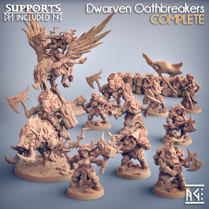 COMPLETE Dwarven Oathbreakers (presupported)