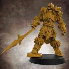 Skeletal Knight (multiple build options) - 32mm scale miniature with supports