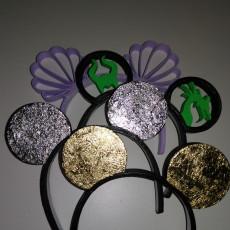 Mickey ears inspired by little Mermaid
