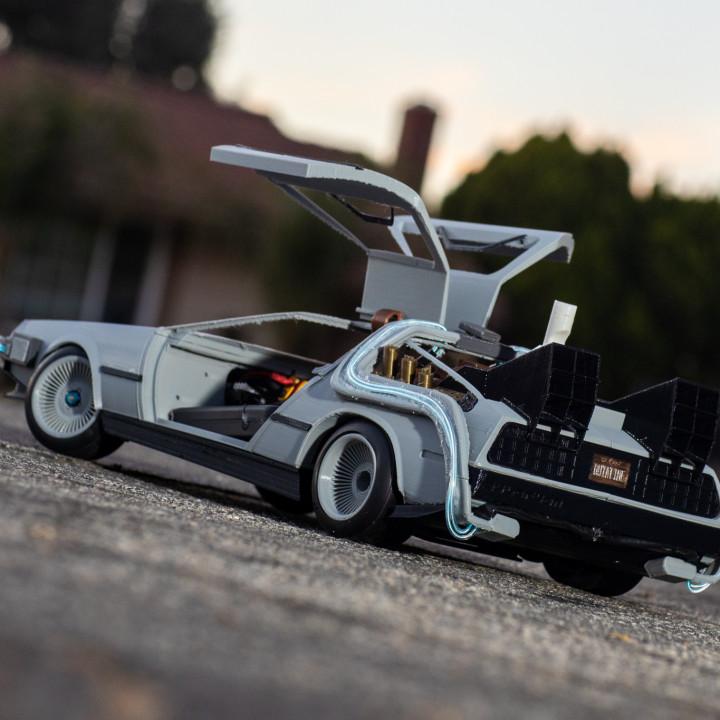 Delorean DMC-12/BTTF Time Machine 3D Printed RC Car