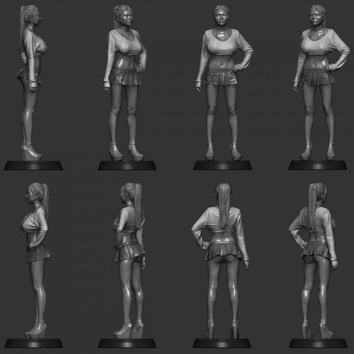 3D Printable SexyCyborg: NEW Body Scan In A Skirt (2020