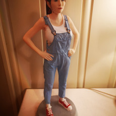 Picture of print of SexyCyborg: NEW body scan in a overalls (2020)