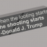 When the looting starts the shooting starts, Trump keychain image