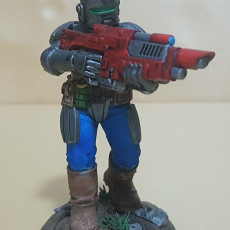 Picture of print of Imperial Arbiters w/ Lasrifles