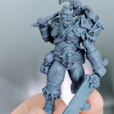 Picture of print of FREE - Orc Barbarian - 32mm scale miniature with supports