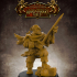 Dwarf Blood Hunter- 32mm scale miniature with supports image