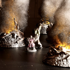 Burning Ruins - Tealight holder and accessories kit