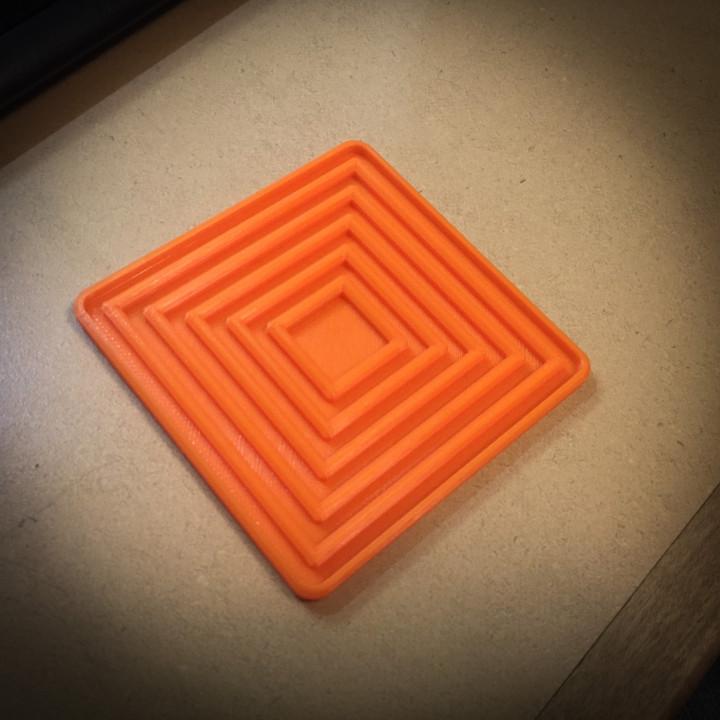 Concentric Square Coaster
