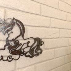 Sleepy Unicorn Wall Art