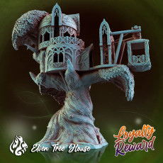 Elven Tree House - FDM Version, Supported