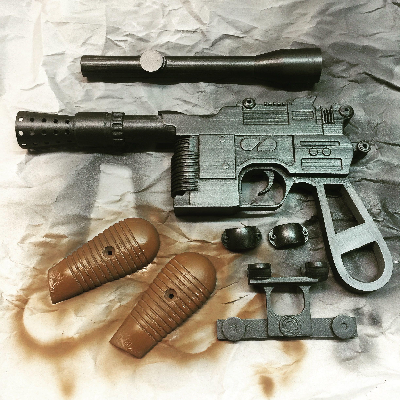 3D Printable Han Solo Blaster By Alan Stanford
