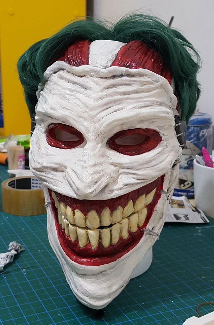 3d Printable Joker Mask By Stefanos Anagnostopoulos