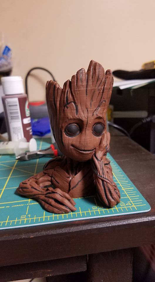 "3D Printable Baby Groot flower pot: ""Gardens"" of the ..."