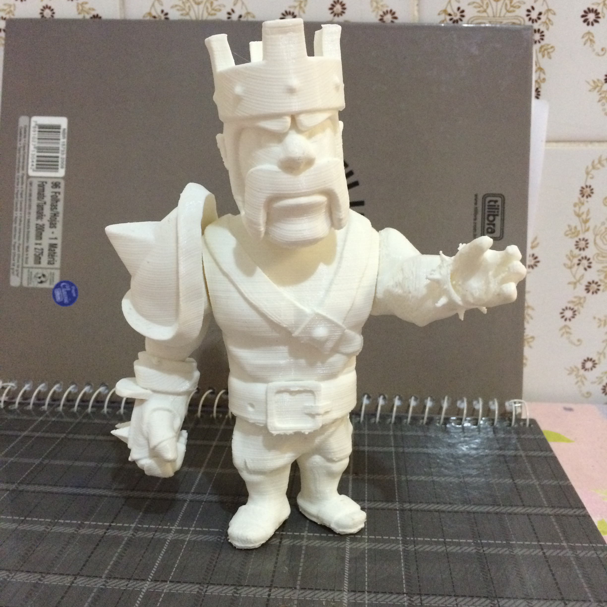 3D Printable Barbarian King Clash Of Clans By Ricardo Alves