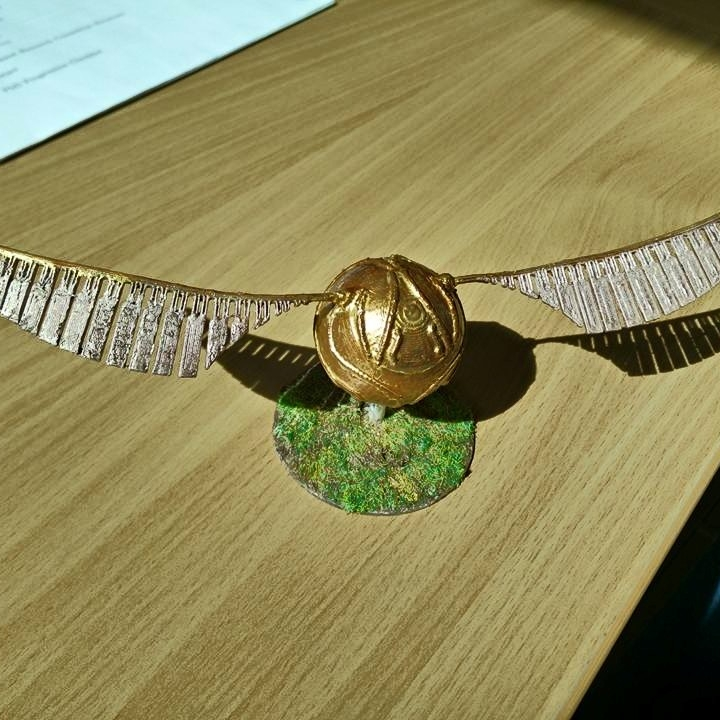 It is a graphic of Intrepid Printable Snitch Wings